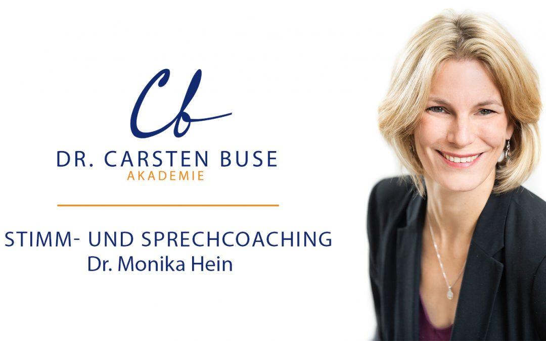 Dr. Monika Hein: Stimm- und Sprechcoaching (30.04.2021 München)
