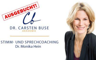 Dr. Monika Hein: Stimm- und Sprechcoaching (22.11.2020 Norderstedt)