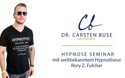Rory Z. Fulcher: Einer der weltbesten Show- und Straßen-Hypnotiseure, hält zum ersten Mal einen seiner begehrten Hypnosekurse in Deutschland (01.05./02.05.2021, München)